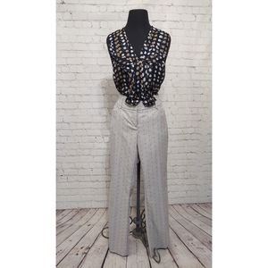 Anthropologie Freckled Blouse with NY&Co. Pants
